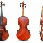 ヴァイオリンを麻布で